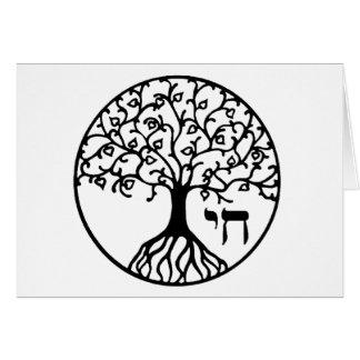 Árbol de la vida con CHAI Tarjeta De Felicitación