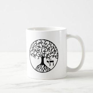Árbol de la vida con CHAI Taza Básica Blanca