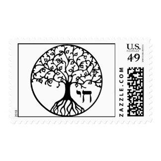 Árbol de la vida con CHAI Timbre Postal