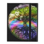 Árbol de la vida con el corazón del arco iris iPad protector