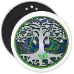 Árbol de la vida con la mariposa en círculo pins