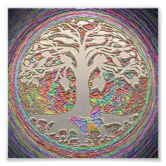 Árbol de la vida con la mariposa cojinete