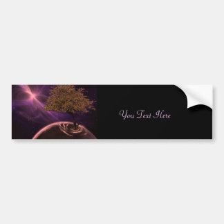 Árbol de la vida cósmico pegatina de parachoque