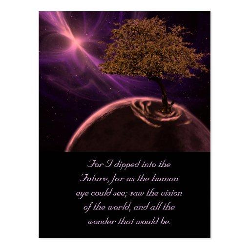 Árbol de la vida cósmico postal