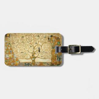 Árbol de la vida de Gustavo Klimt Etiquetas Para Maletas