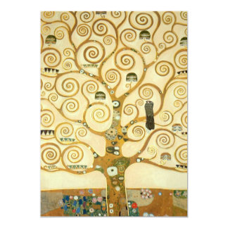 """Árbol de la vida de Gustavo Klimt Invitación 5"""" X 7"""""""
