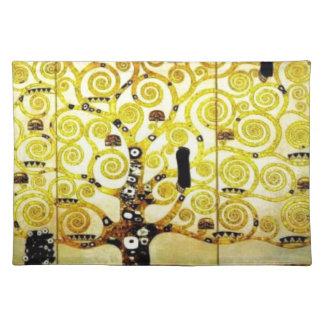 Árbol de la vida de Gustavo Klimt Mantel Individual