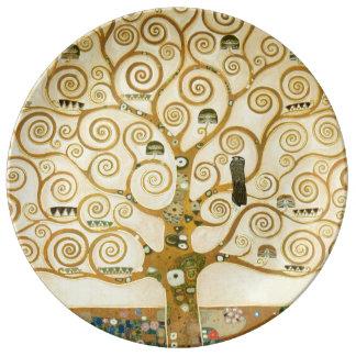 Árbol de la vida de Gustavo Klimt Platos De Cerámica