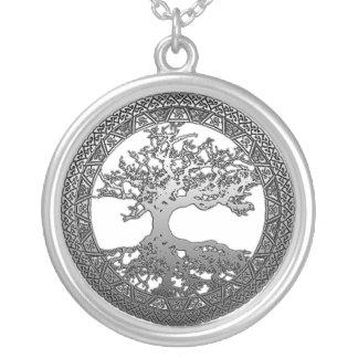 Árbol de la vida de plata pendientes personalizados