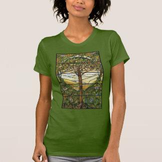 Árbol de la vida/del vitral de Tiffany Camisetas