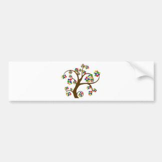 Árbol de la vida desconcertado etiqueta de parachoque
