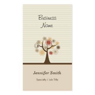 Árbol de la vida elegante - tema natural elegante tarjetas de negocios
