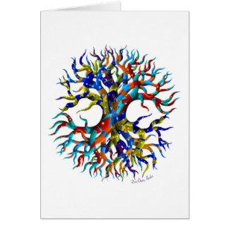 Árbol de la vida en blanco tarjeta de felicitación