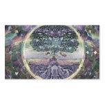 Árbol de la vida en colores del metal del arco iri tarjetas de visita