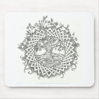 Árbol de la vida en diseño céltico tapete de ratones
