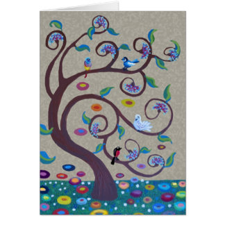 Árbol de la vida - estilo del nouveau del arte tarjeta de felicitación