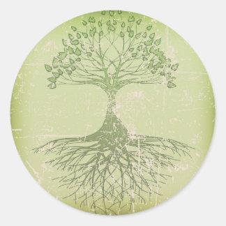 Árbol de la vida etiquetas redondas