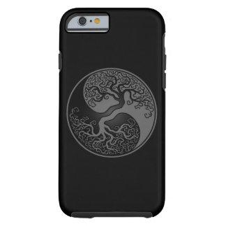 Árbol de la vida gris y negro Yin Yang Funda De iPhone 6 Tough