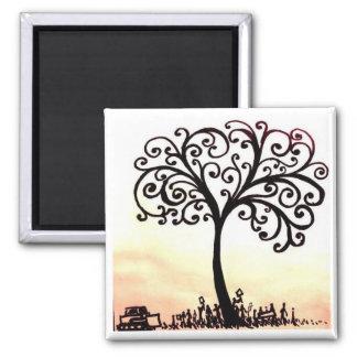 árbol de la vida imán cuadrado