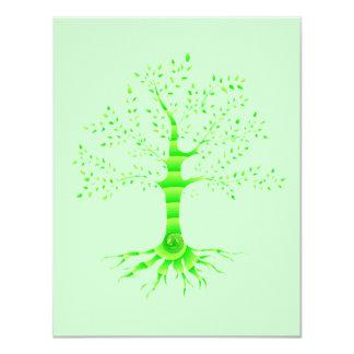 """árbol de la vida invitación 4.25"""" x 5.5"""""""