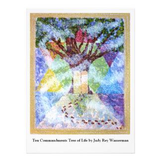 Árbol de la vida - Judy Rey Wasserman de diez mand Invitación Personalizada