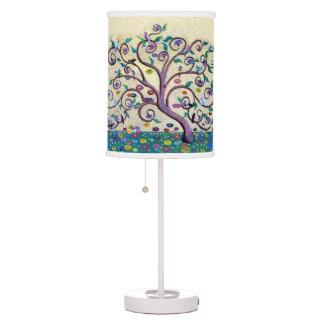 Árbol de la vida lámpara de mesilla de noche