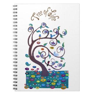 Árbol de la vida libros de apuntes con espiral