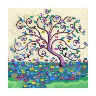 Árbol de la vida impresiones en lona estiradas