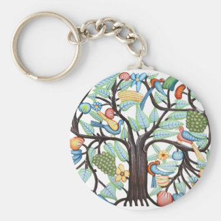 Árbol de la vida - pastel llavero redondo tipo pin