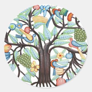 Árbol de la vida - pastel pegatina redonda