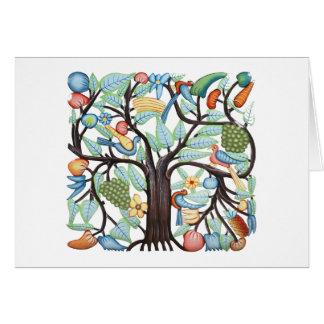 Árbol de la vida - pastel tarjeta de felicitación