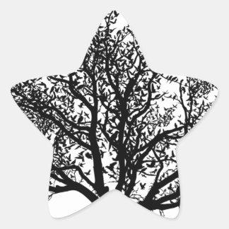 Árbol de la vida pegatina en forma de estrella