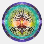 Árbol de la vida pegatina redonda