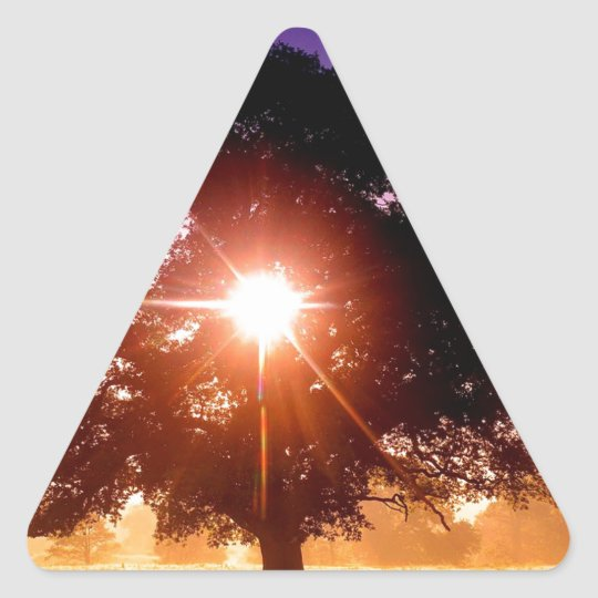 Árbol de la vida pegatina triangular