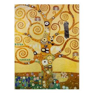 Árbol de la vida por Klimt Postal