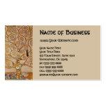 Árbol de la vida por Klimt, símbolo estilizado de  Plantillas De Tarjeta De Negocio