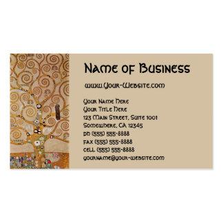 Árbol de la vida por Klimt, símbolo estilizado de Tarjetas De Visita