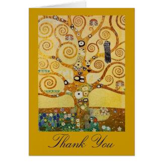 Árbol de la vida por Klimt Tarjeta De Felicitación