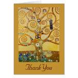 Árbol de la vida por Klimt Tarjeta Pequeña