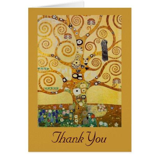 Árbol de la vida por Klimt Tarjetón