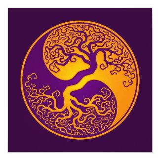 Árbol de la vida púrpura de oro Yin Yang Anuncios