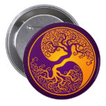 Árbol de la vida púrpura de oro Yin Yang Pin