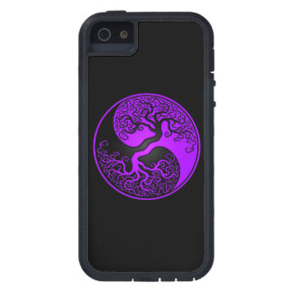 Árbol de la vida púrpura y negro Yin Yang iPhone 5 Case-Mate Cobertura
