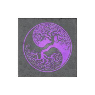Árbol de la vida púrpura y negro Yin Yang Imán De Piedra