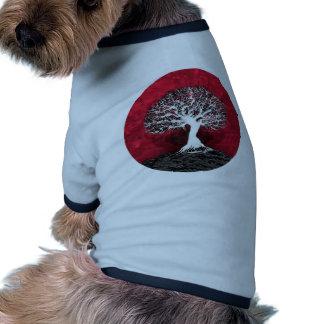 Árbol de la vida rojo ropa para mascota