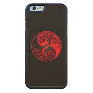 Árbol de la vida rojo y negro Yin Yang Funda De iPhone 6 Bumper Arce