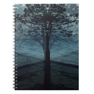 Árbol de la vida solamente en paz libros de apuntes con espiral