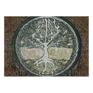 Árbol de la vida tarjetas de visita grandes
