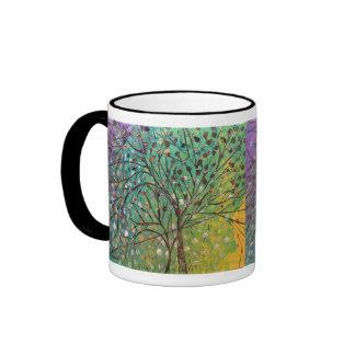 Árbol de la vida taza a dos colores