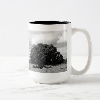 Árbol de la vida taza de café de dos colores